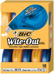 Bic Wite out Tear resistant Translucent Correction Tape 1 5 In X 39 4 Ft Wh