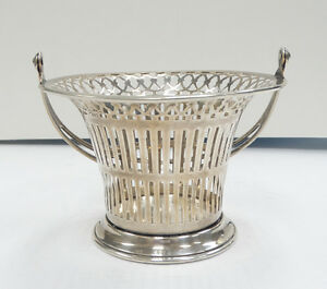 Beautiful Meriden Britannia Sterling Candy Nut Basket A3455
