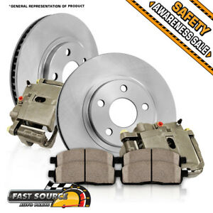 Rear Oe Brake Calipers Rotors Ceramic Pads Kit 2010 2011 Ford Ranger