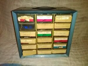 Vintage Arko mills 18 Drawer Parts Cabinet With Assorted Parts Some Gears motors