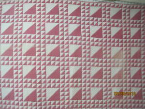 Antique 1880 S Quilt Cinnamon Pink Lady Of The Lake Brown White Shirting Print B