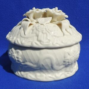 Vintage Ironstone Covered Casserole Bowl Dish Tureen W Flowered Lid 4424