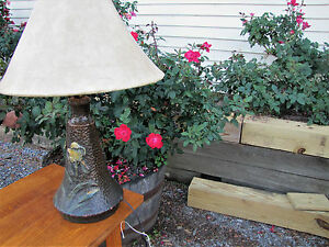 Fantastic Antique Arts Crafts Weller Art Pottery Lamp Inv4393 Stickley Era