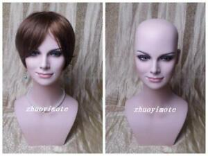Unique Female Fiberglass Mannequin Head Bust For Wig Jewelry hat Display