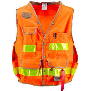 Seco Class 2 Lightweight Safety Utility Vest Xx large Fluorescent Orange