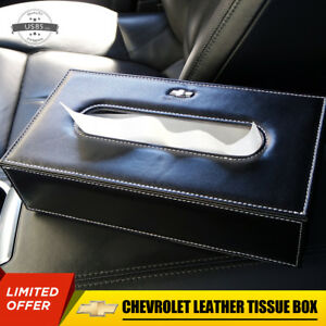 Chevrolet Leather Auto Car Tissue Box Cover Napkin Paper Holder Towel Dispenser