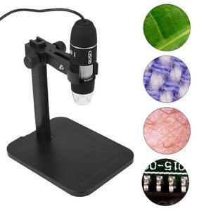 1000x Zoom Usb Digital Microscope 8led Computer Endoscope Camera Magnifier Black