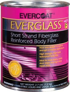 Evercoat 632 Everglass Fiberglass Reinforced Auto Body Filler Quart