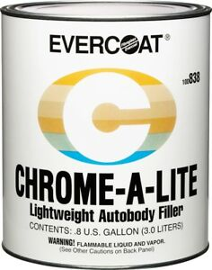 Evercoat 838 Chrome A Lite Lightweight Non Clog Auto Body Filler Gallon