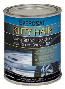 Evercoat 868 Kitty Hair Long Strand Fiberglass Reinforced Body Filler Quart