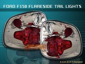 2001 2003 Ford F150 F 150 Flareside Tail Lights 2002