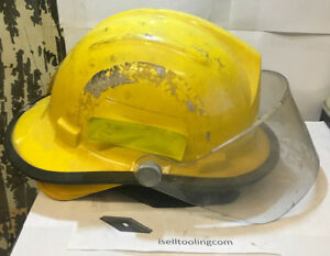 Bullard Firedome Ii Fh2100 New York Firefighter Fire Rescue Helmet Shield Used