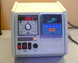 Parr Temperature Controller M n 4841 With Honeywell Dc2005 Controller W 3x J Tc