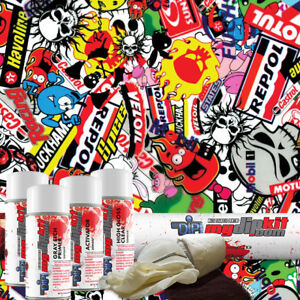 Hydrographic Film Kit Hydro Dipping Water Transfer Printing Stickers Ll535