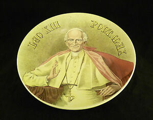 Boch Fr Res Keramis Blessing Of The Pope L On Xiii Rome Vatican Roma Diameter 28