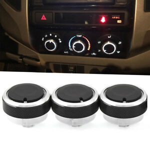 3pcs Switch Knob Heater Climate Control Button A C For Toyota Tacoma Vios 02 14