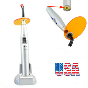 Usa Dental Silver Dental 10w Cordless Wireless Led Curing Light Cure Lamp 2000mw