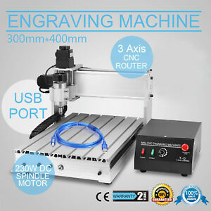 Top 3 Axis Cnc Router Engraver 3d Engraving Drilling Milling Machine 230w 3040