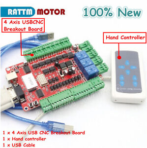 New 4 Axis Usb Cnc Breakout Board Usb Interface Board Usbcnc With Handle Control