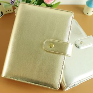 Silver Gold Refillable Daily Loose leaf Filofax Planner Agenda Notepad Binder