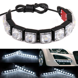 18 Led Drl Daytime Running Light Car Truck Flexible Strip Light Lamp Waterproof