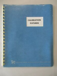 Tektronix Calibration Fixtures Description Instruction Catalog Manual