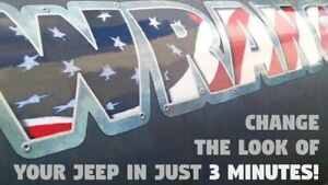 Hood Decals Stickers For Jeep Wrangler American Flag riveted 2 Pc Set Vinyl