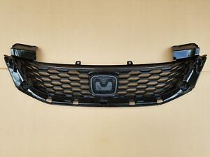 Fits 2013 2015 Honda Accord 2dr Coupe Front Bumper Upper Black Grille Panel New