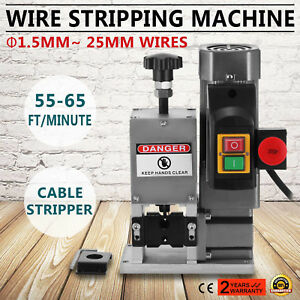 Portable Powered Electric Wire Stripping Machine Metal Tool Scrap Cable Stripper