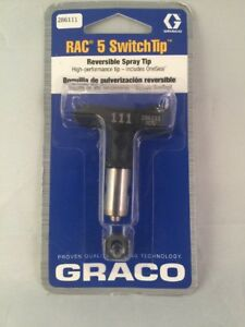 Graco 286111 Rac 5 Reversible Switch Tip For Airless Paint Spray Guns 111