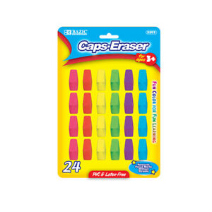 Bazic Neon Eraser Top 24 pack
