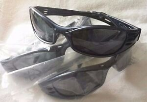 Lot Of 4 3m Fuel High performance Safety Glasses W navy Blue Frame grey Lens