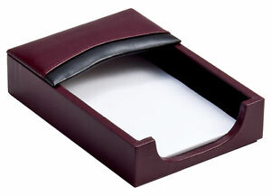 A7009 two tone leather 4 x 6 memo holder