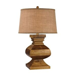 Carved Wood Post Lamp