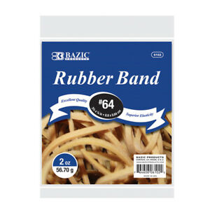Bazic 2 Oz 56 70 G 64 Rubber Bands Pack Of 36