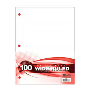 Bazic W r 100 Ct Filler Paper Pack Of 36