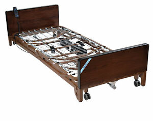 Delta Ultra Light Full Electric Low Hospital Bed With Half Rails And Therapeu