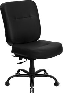 Hercules Series Big Tall 400 Lb Rated Black Leather Executive Swivel Chair