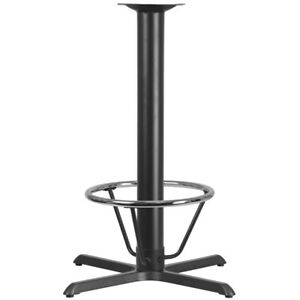 33 X 33 Restaurant Table X base With 4 Dia Bar Height Column And Foot