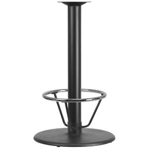 24 Round Restaurant Table Base With 4 Dia Bar Height Column And Foot Ring