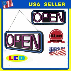 Horizontal Open Neon Led Sign Business Bar Light Cafe Shop Pub Signs Display