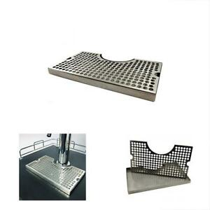 12 Surface Mount Kegerator Beer Drip Tray Stainless Steel Tower Cut Out No