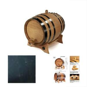 Liter Whiskey Oak Barrel For Aging Golden With Black Steel Hoops And Recipes
