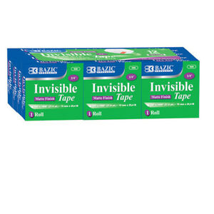 Bazic 3 4 Inch X 1000 Inch Invisible Tape Refill 12 pack Pack Of 12