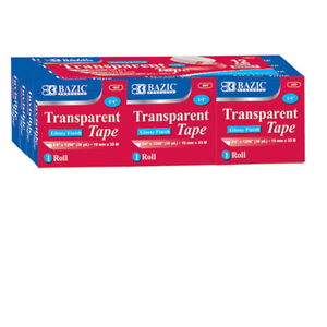 Bazic 3 4 Inch X 1296 Inch Transparent Tape Refill 12 pack Pack Of 12
