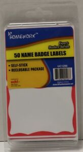 Name product Badge Labels 50 Pack Case Pack 48