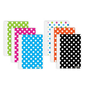 Bazic 80 Ct 5 Inch X 7 Inch Polka Dot Poly Cover Personal Composition Book P