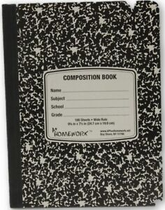 Composition Book 9 75 X 7 5 100 Sheets Case Pack 48