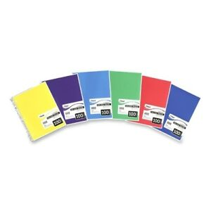 1 Subject Spiral College Rule Notebook 100 Sheets Case Pack 9