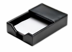 A1409 econo line black leather 4 x 6 memo holder